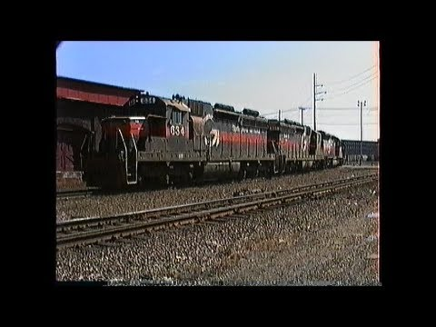 Assorted Guilford Transportation Industries freights in MA & NH 1989