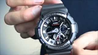 g shock ga 200 1aer digital watch with resin combi strap