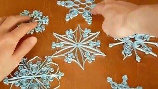 Снежинка в технике квиллинг.