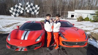 Ferrari 488 Pista vs Ferrari 812 Superfast DRAG & ROLL RACING!