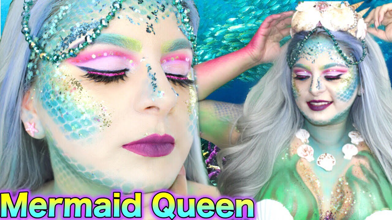 Maquillaje Fantasia De Sirena Halloween 2017 Marcialooks Youtube