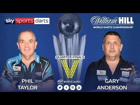 2018 World Darts Championship Quarter Final Taylor vs G.Anderson