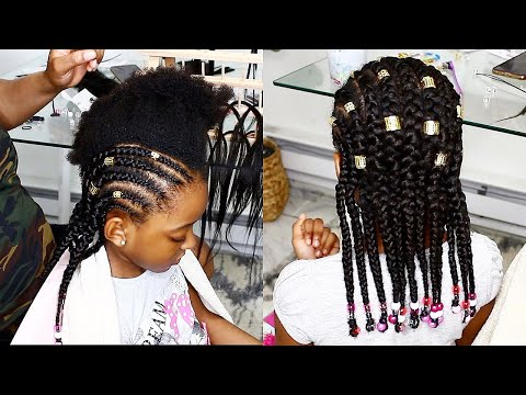 easy-kids-hairstyle...feed-in-braids-for-kids-(my-first-attempt)-|-omabelletv