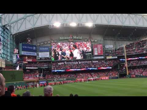 2017 Houston Astros Opening Day National Anthem (Chilling)
