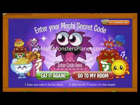 Moshi Monsters Cuddly Moshlings Codes - Cheats and Secrets