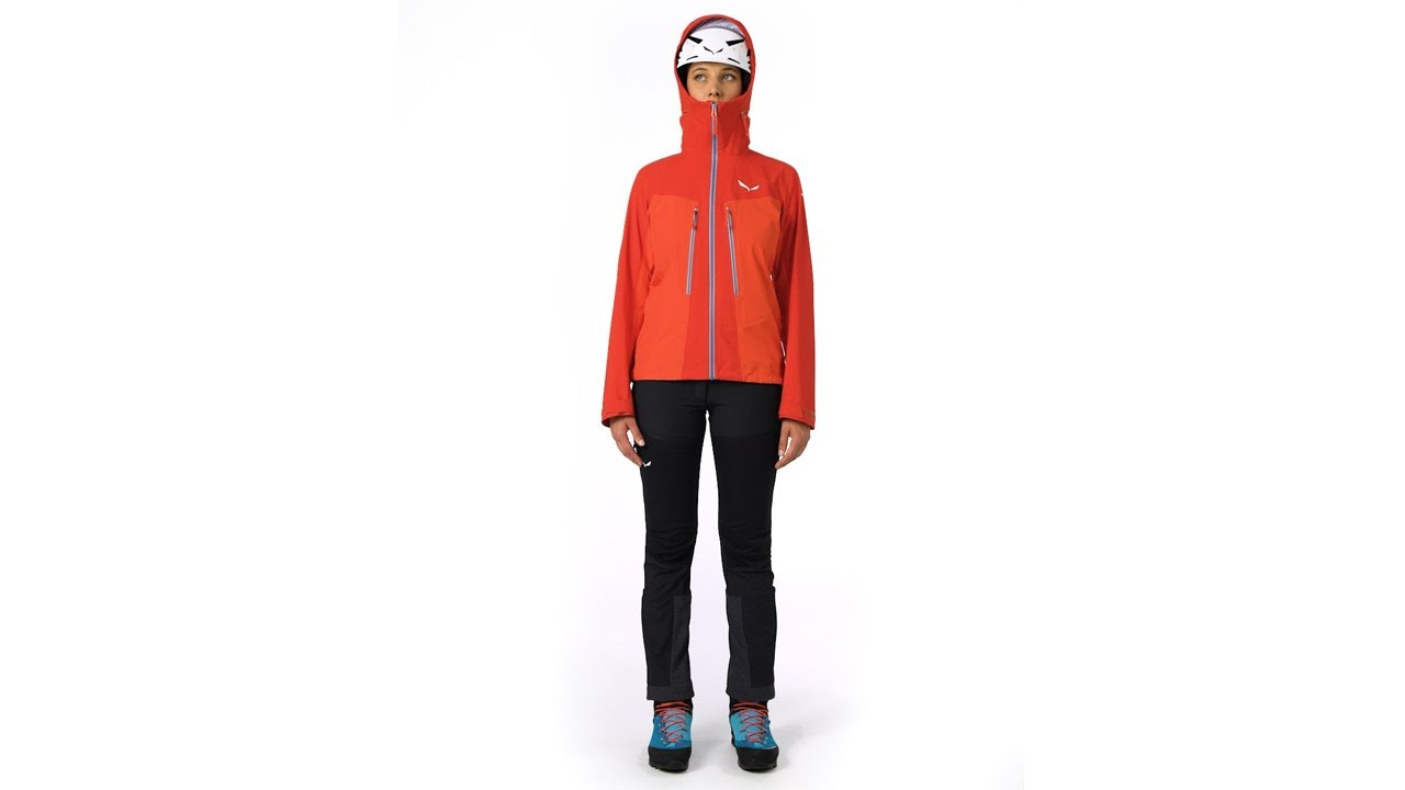 081b4eb8069 SALEWA Ortles 3 Gore Tex® Pro Hardshell Women's Jacket - YouTube