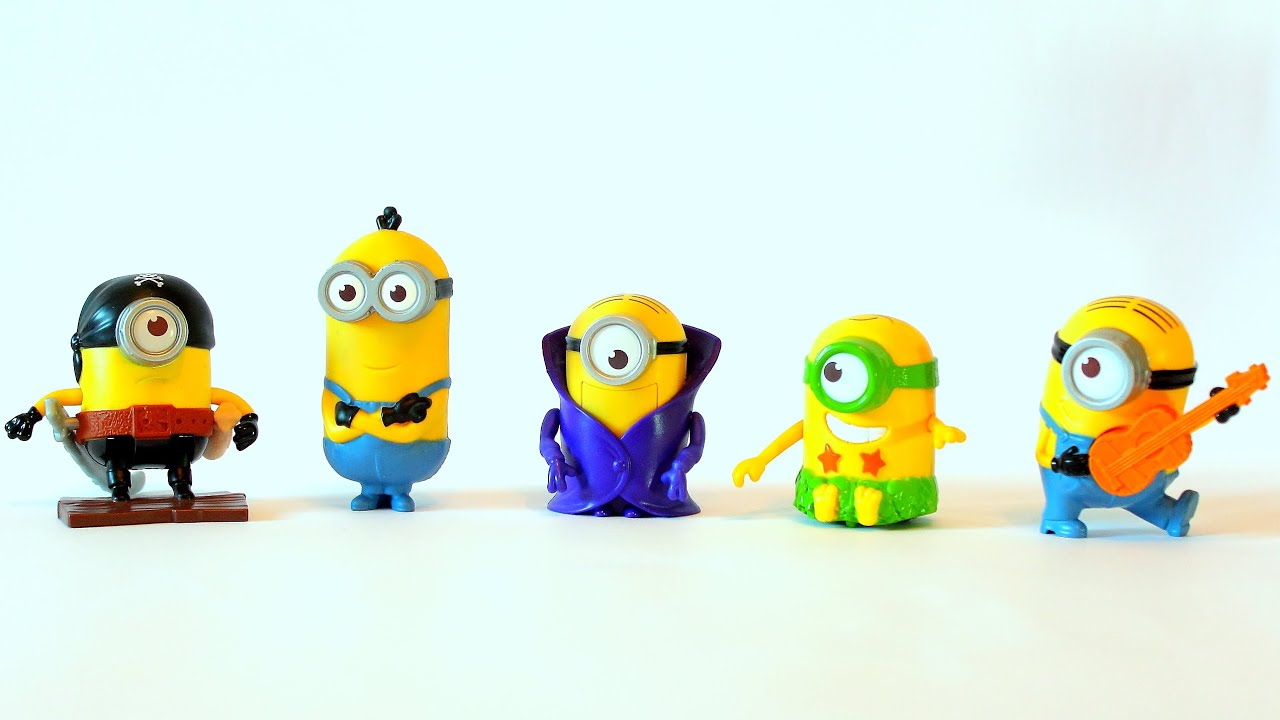 Minions film mcdonalds happy meal spielzeug youtube