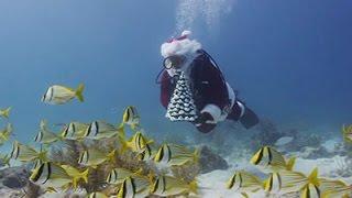 Raw: Scuba Diving Santa Off Florida Keys