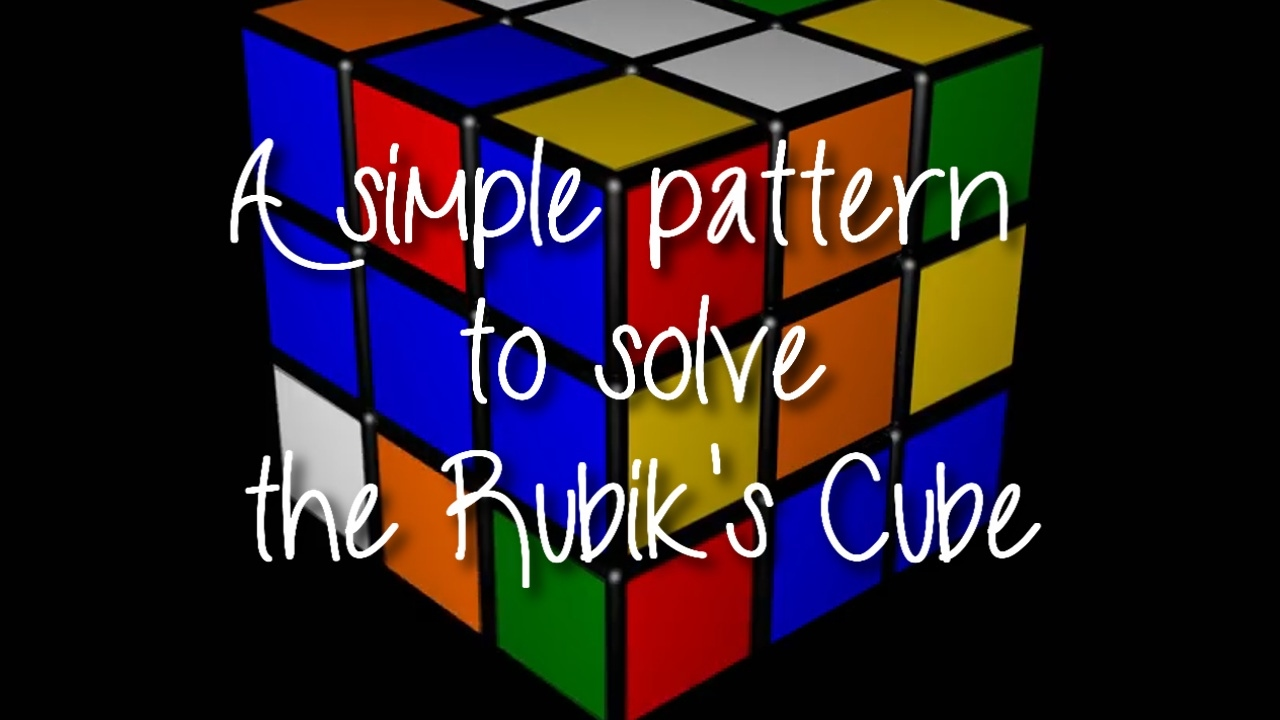 Pattern To Solve Rubik's Cube New Design Inspiration