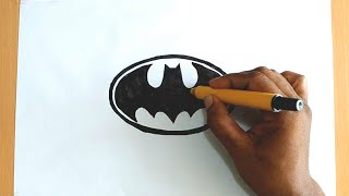 How to Draw the Batman Logo