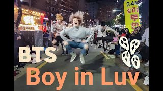 [KPOP IN PUBLIC] dance cover on BTS - Boy in Luv (상남자) by Alina with Vierno [Hongdae Street Busking]