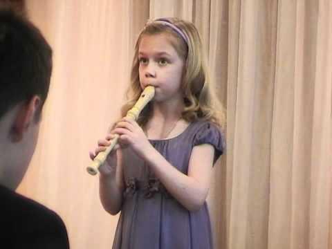 Алиса Суетина. Блок флейта. Вальс Грибоедова.