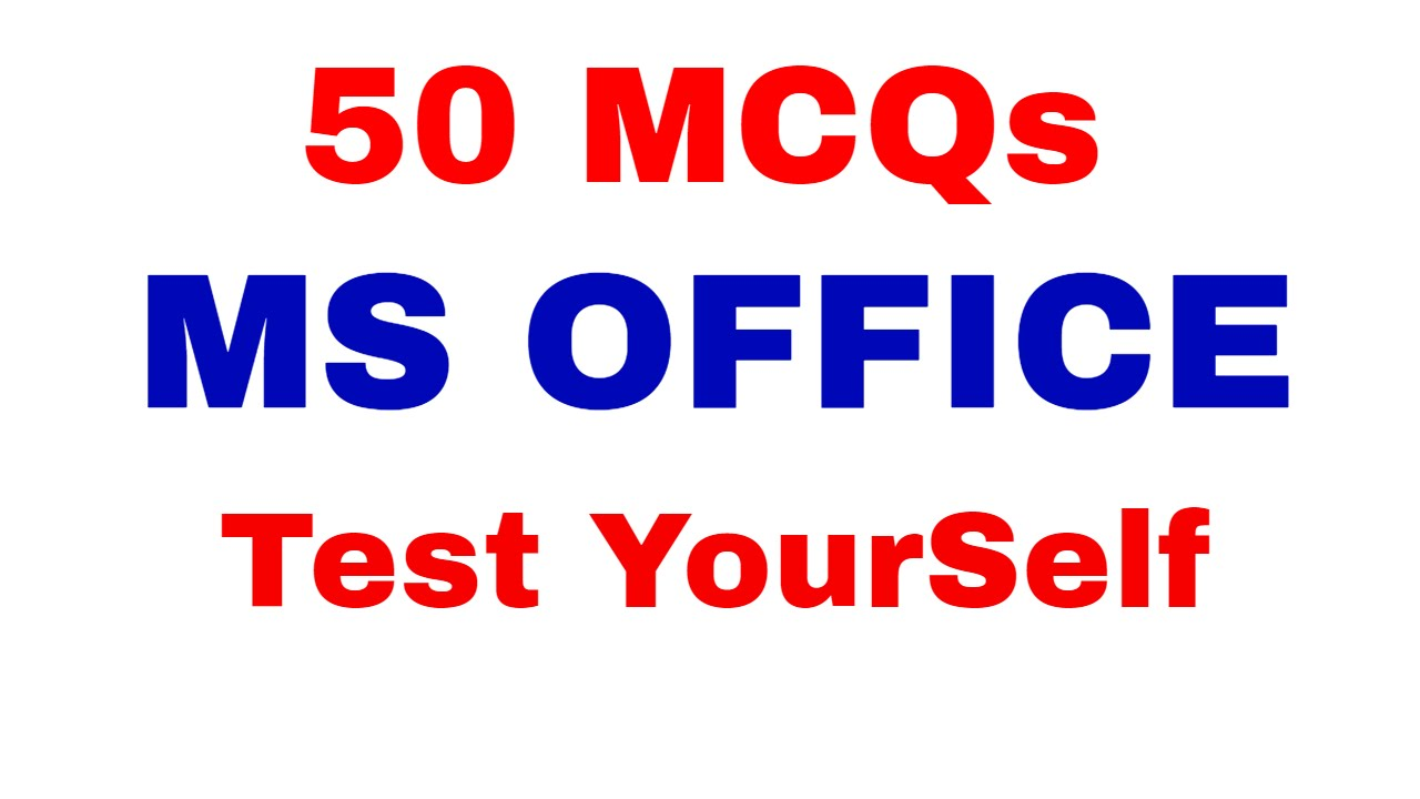 Ms Office Objective Questions And Answers Pdf In English