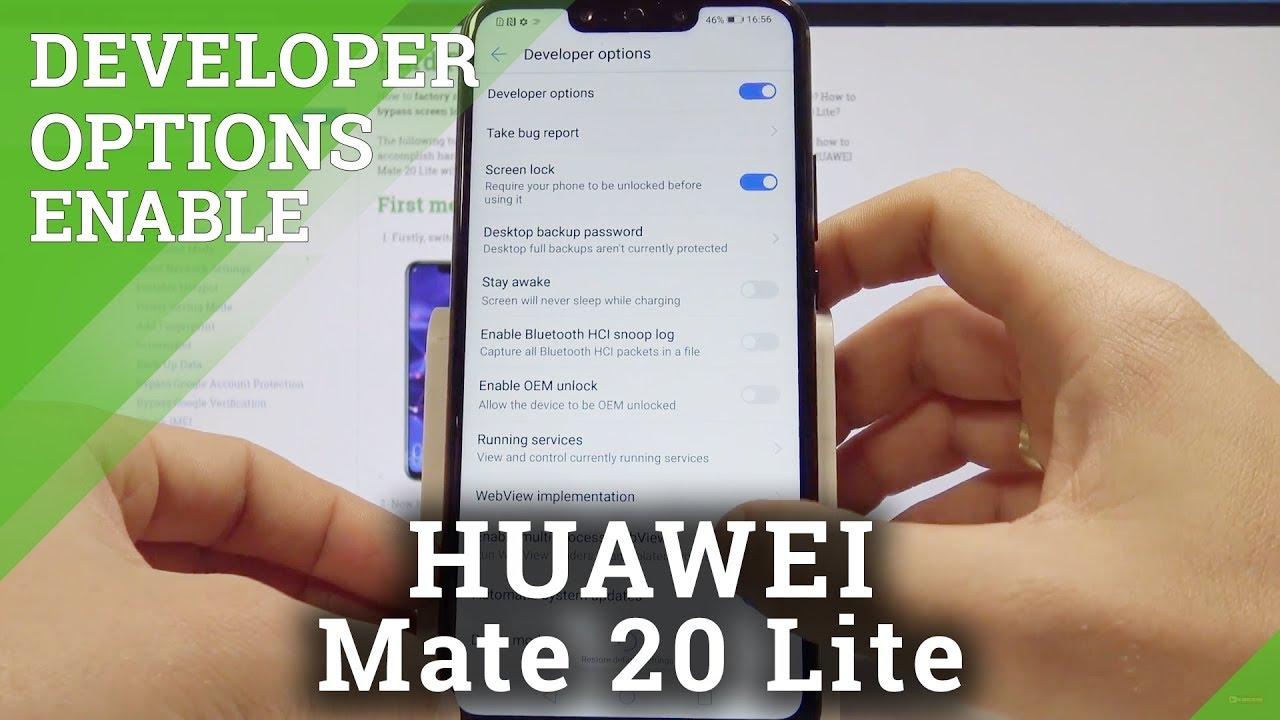 How to Enable Developer Options on HUAWEI Mate 20 Lite - OEM Unlocking &  USB Debugging