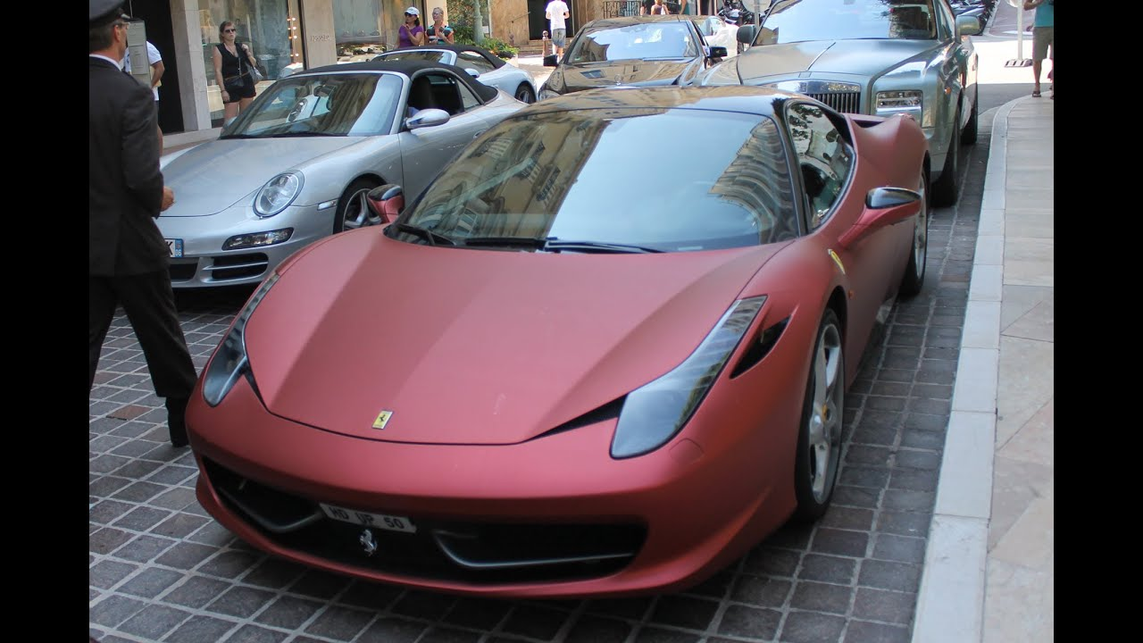 Matte red ferrari 458 italia walkaround in monaco 2013 hq youtube matte red ferrari 458 italia walkaround in monaco 2013 hq vanachro Choice Image