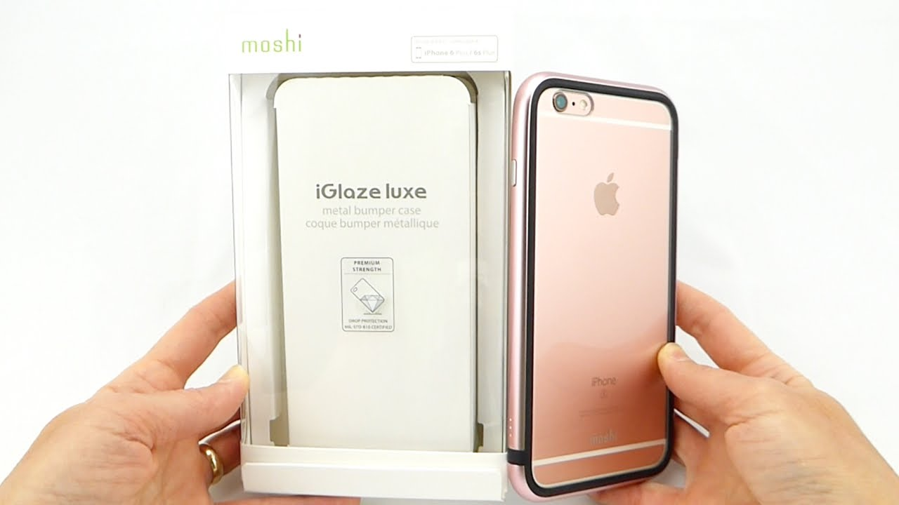 the latest d8cd5 cf588 Moshi iGlaze Luxe: A Sleek Aluminum Bumper with Mil-Spec Protection for  your 6s+!