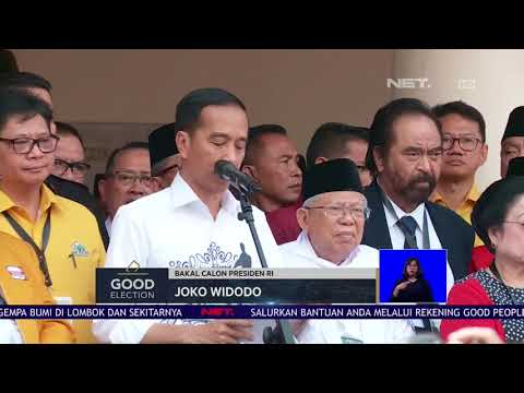 Deklarasi Jokowi-Ma'ruf Amin di Gedung Joang 45 - NET 12