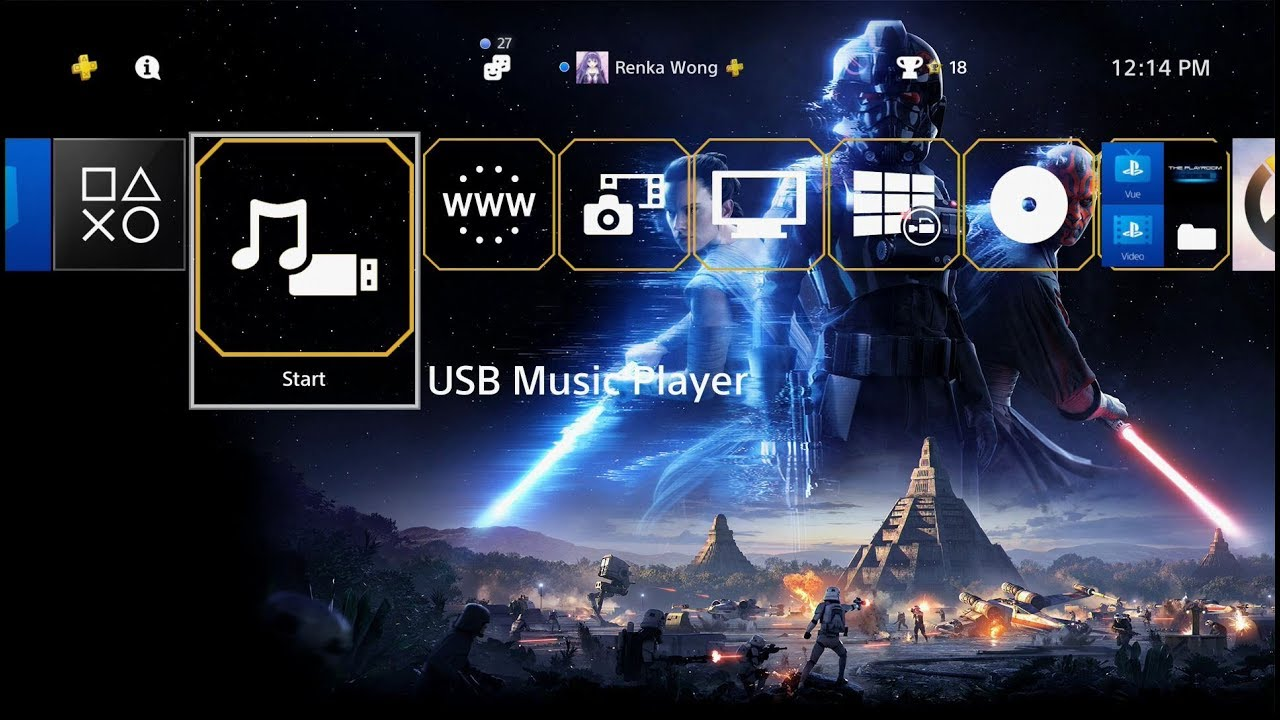 Star Wars Battlefront 2 Theme PS4 - YouTube