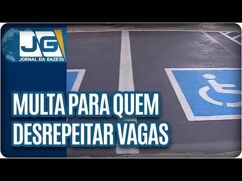 Começa em São Paulo multa pra quem desrespeitar as vagas de deficientes e idosos