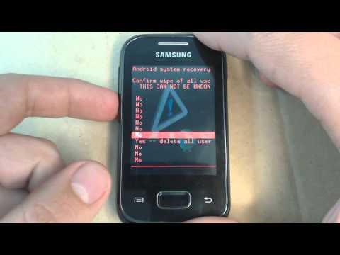 Samsung Galaxy Pocket S5300 - How to reset - Como restablecer datos de fabrica