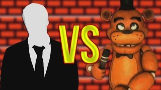 - 5 Ночей с Фредди VS Слендермен СУПЕР РЭП БИТВА Five Nights At Freddy s FNAF Против Slender man