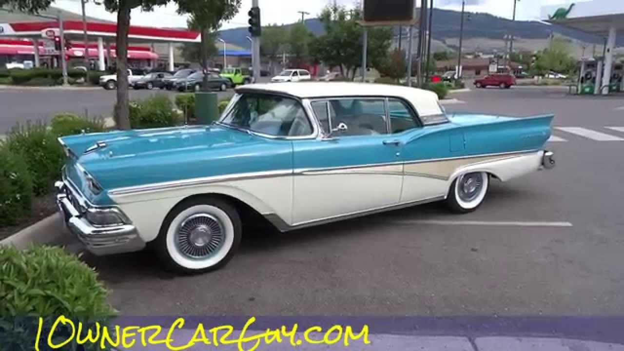 1958 Ford Fairlane 500 Skyliner Galaxie Convertible Oldtimer Clic Car Video You