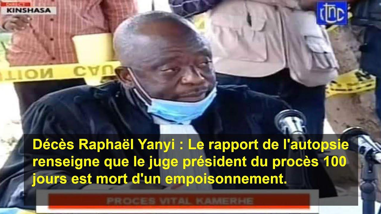 <b>Congo RDC: Le juge Raphaël Yanyi a été empoisonné</b>