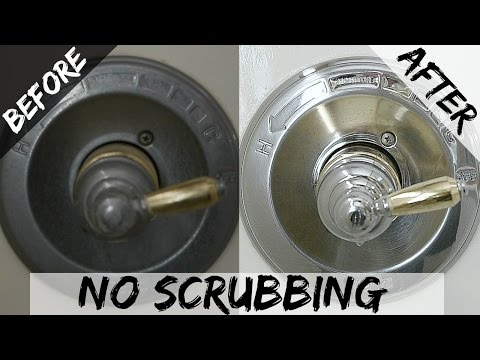 Hard Water & Soap Scum Stain Removal In The Shower & Bath - How To - Homemade Cleaner - Vinegar
