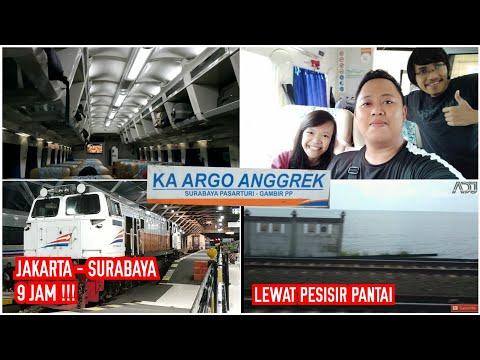 TERCEPAT DI INDONESIA - Jakarta - Surabaya Naik Kereta Api Argo Bromo Anggrek