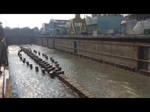 Dock yard water filling