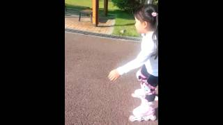 roller skating a 6 year old baby...