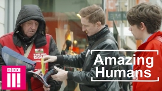 Man who gives out MONEY in the hope of spreading kindness