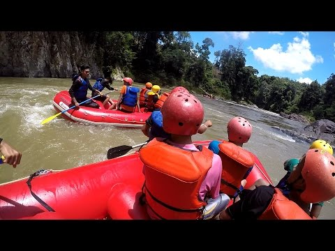 Rafting at Geopark Merangin Jambi