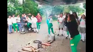 Niños de Putumayo denuncian que estudian con hambre y llenan sus estómagos solo con agua