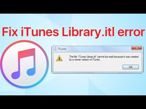 Fix iTunes library itl error