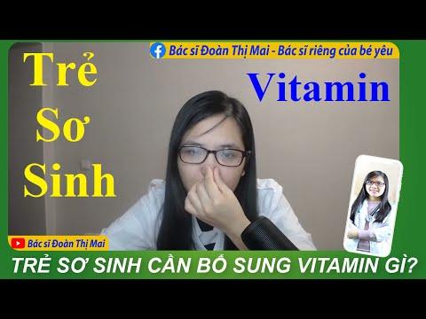 Trẻ sơ sinh cần bổ sung vitamin gì?