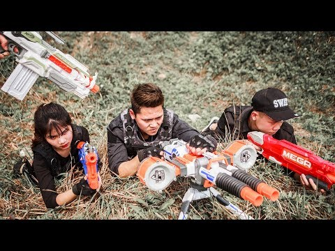 NERF WAR : S.W.A.T Warriors Nerf Guns Fight Attack Crime Gro