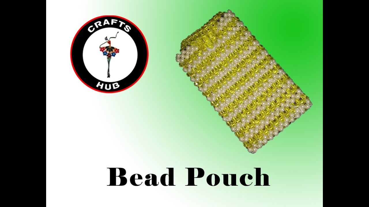 How to make beads purse or pouch - Create home made wallet - YouTube