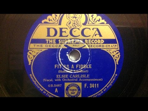 "Elsie Carlisle - ""Fit as a Fiddle"" (1933)"