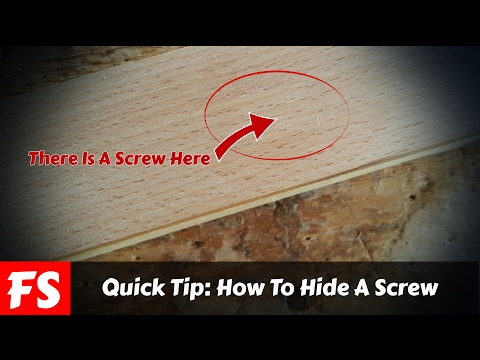 Quick Woodworking Tip: How To Hide A Screw (FS Woodworking)
