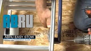 How to install the Abru Easy Stow 3 Section Aluminium Loft Ladder