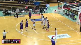 全日本大学バスケ2018インカレ男子1回戦、専修大学vs同志社大学