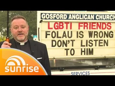 Gosford priest hits out at Israel Folau with new church sign | Sunrise