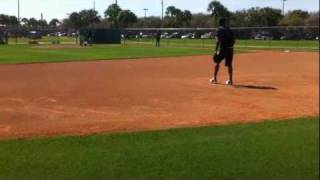 Jose Reyes first Miami Marlins work out