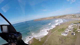 Bodmin Airfield to the St Moritz Hotel - R44 Helicopter - GoPro Hero 3+