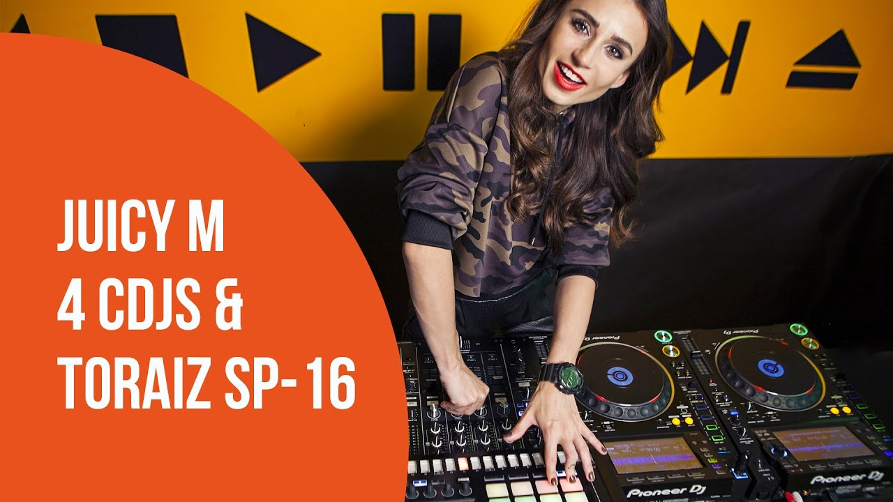 Juicy M on 4 CDJs and TORAIZ SP-16