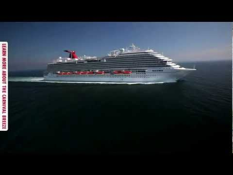 Carnival Breeze at full speed and test