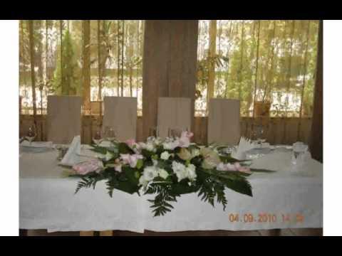 Украшение Свадебного Стола Живыми Цветами смотреть в хорошем качестве