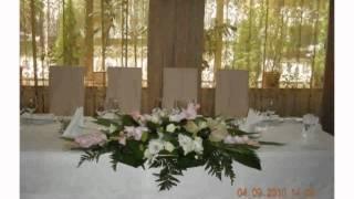 Украшение Свадебного Стола Живыми Цветами