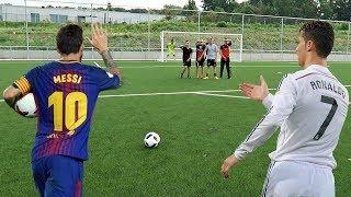 CRISTIANO RONALDO VS MESSI - FREE KICK CHALLENGE | IN REAL LIFE FOOTBALL